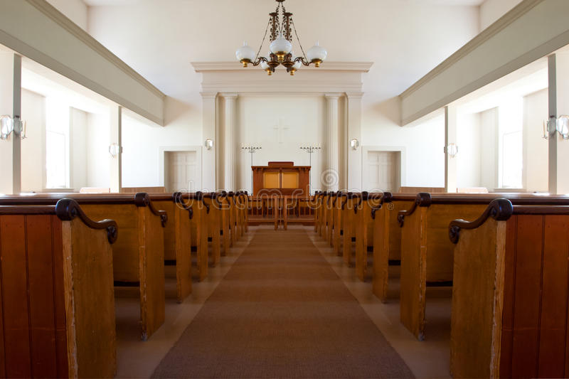 Interno della chiesa fotografia stock libera da diritti
