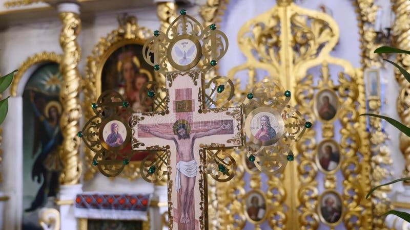 Interno della chiesa dell'Ucraina fotografie stock libere da diritti