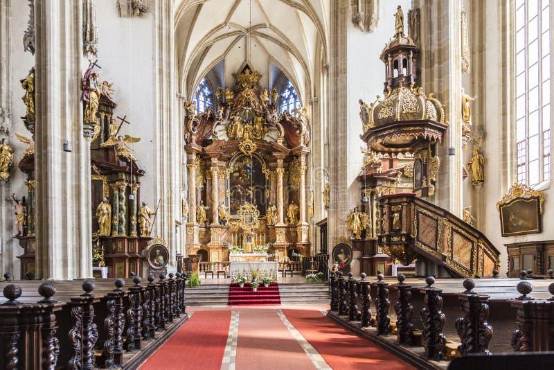 Interno della chiesa di Piarist in Krems fotografia stock libera da diritti