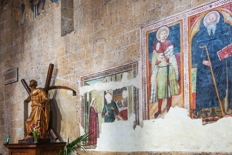 """Interno della chiesa di Sant """"Andrea in Orvieto, Italia fotografie stock libere da diritti"""