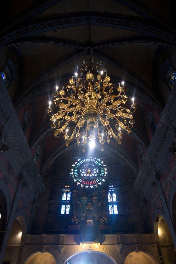 Interno della chiesa di Soller fotografie stock libere da diritti