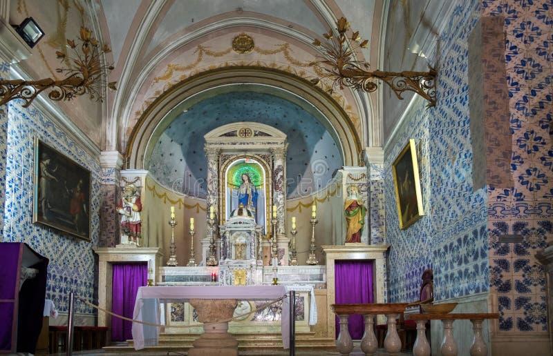 Interno della chiesa di St John il battista, Ein Karem immagini stock