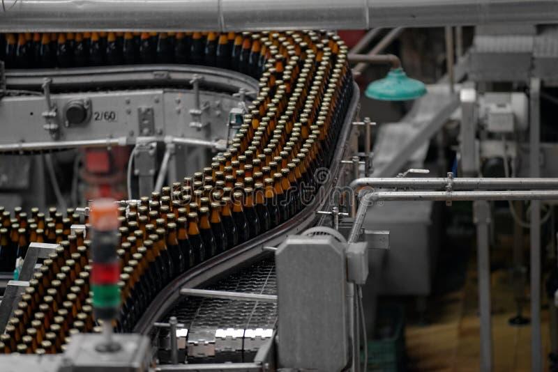 Interno della fabbrica della birra fotografia stock libera da diritti