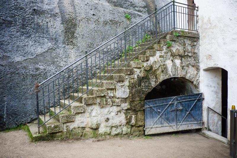 Interno della fortezza di Salisburgo immagine stock