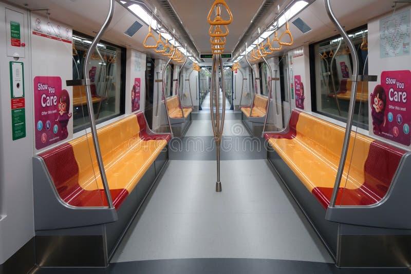 Interno della linea del centro treno di MRT immagine stock libera da diritti