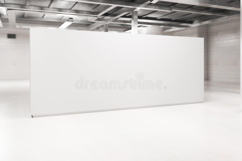 Interno della luce con il lato in bianco del manifesto fotografie stock libere da diritti