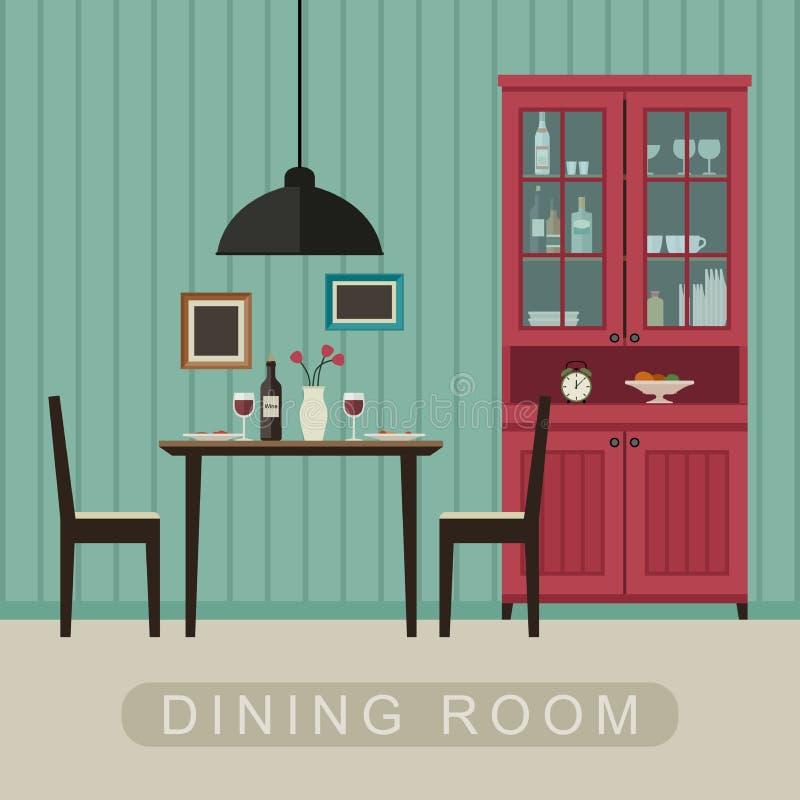 Interno della sala da pranzo royalty illustrazione gratis