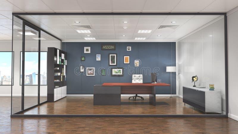 Interno della sala riunioni e dell'ufficio illustrazione vettoriale