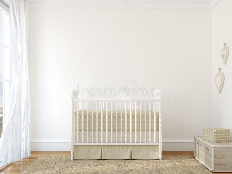 Interno della scuola materna. illustrazione vettoriale