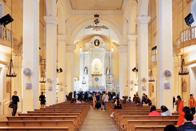 Interno della st dominic church a macao immagine stock for Interno 7 cassino