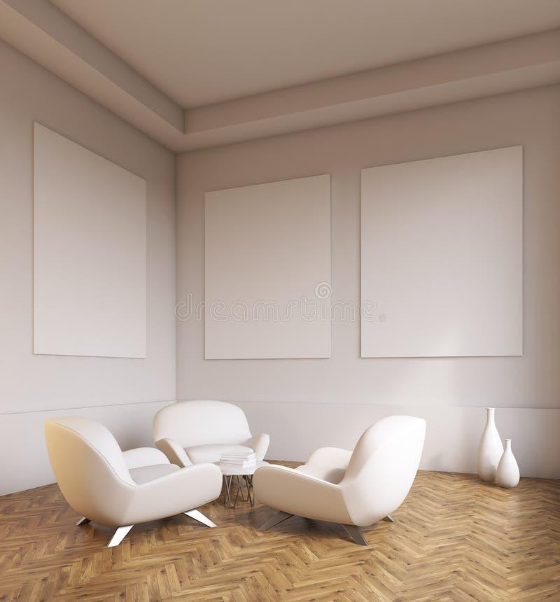 Interno della stanza con i sof e le pareti grigio chiaro for Zona 5 mobilia no club download