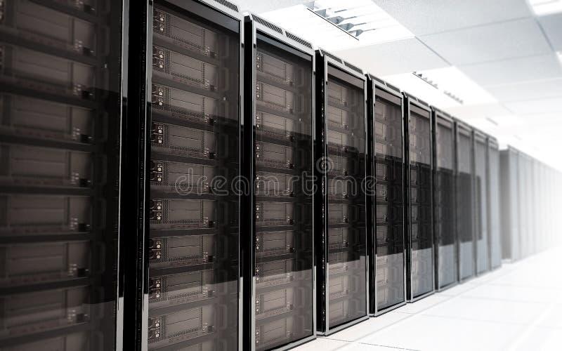 Interno della stanza del server immagini stock