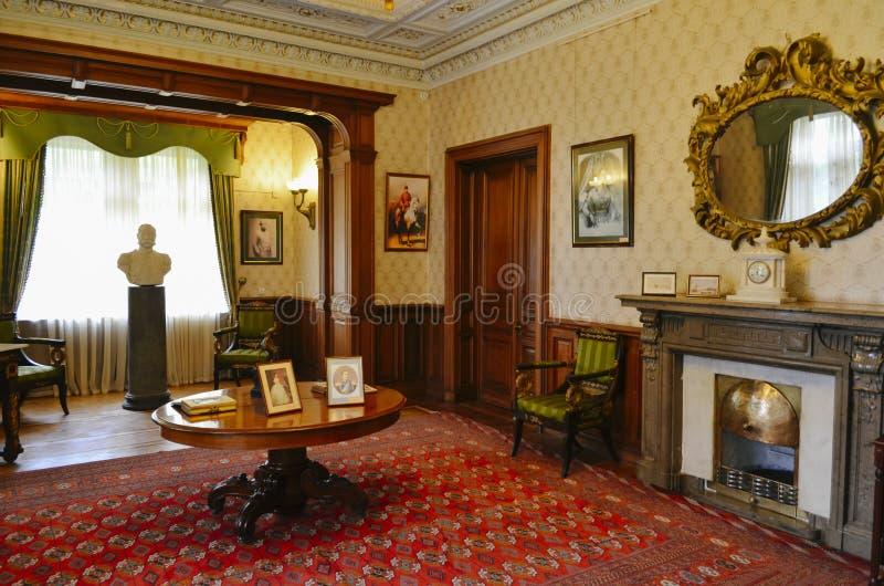 Interno della stanza di funzionamento nel palazzo di Masandra, Crimea fotografie stock