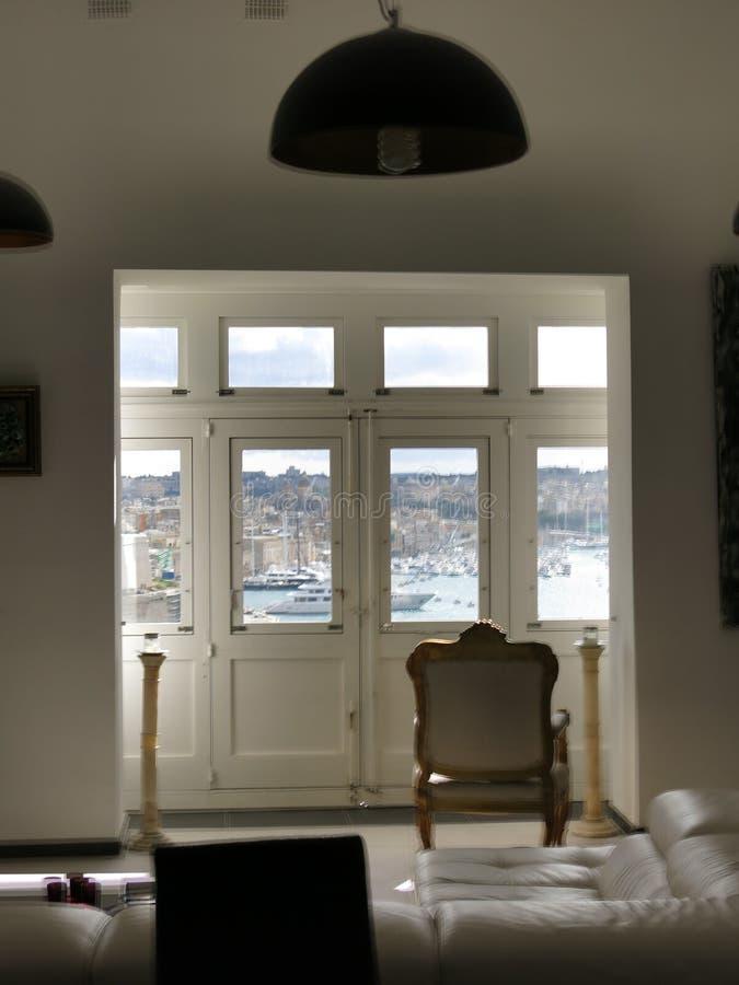 Interno della stanza a La Valletta fotografia stock