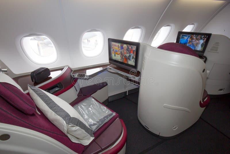 Interno di Airbus immagine stock libera da diritti