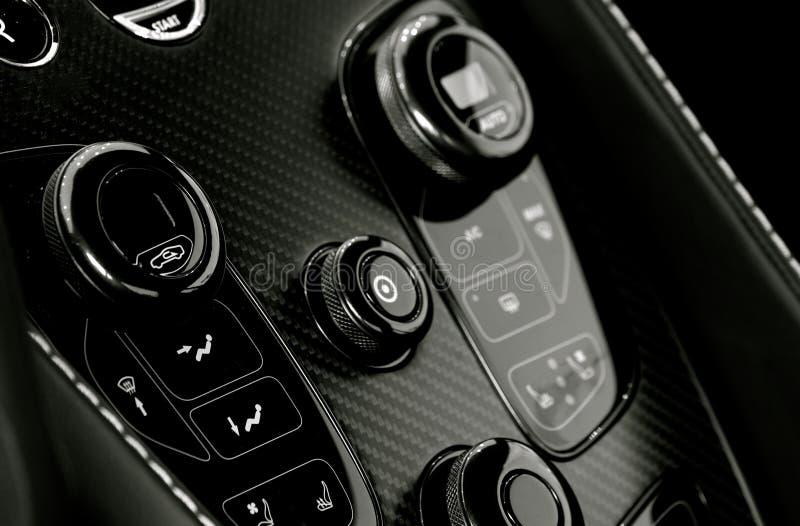 Interno di Aston Martin fotografie stock libere da diritti