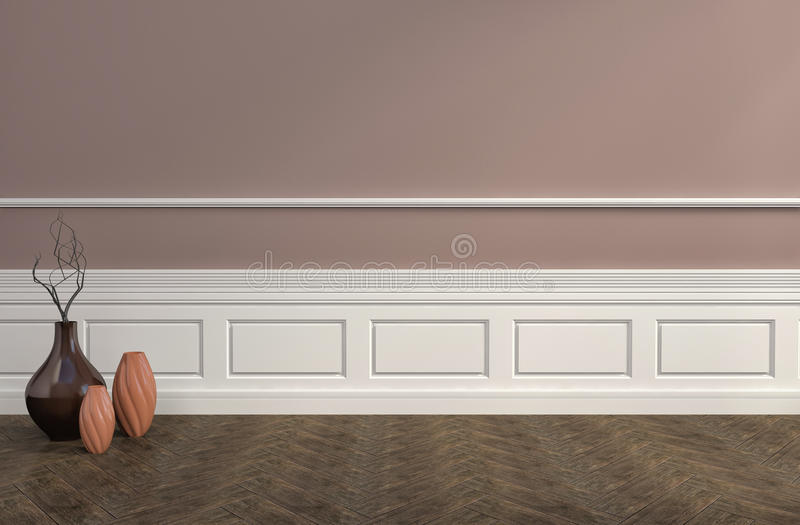 Download Interno Di Brown Con I Vasi Illustrazione 3D Illustrazione di Stock - Illustrazione di nessuno, vases: 55355834