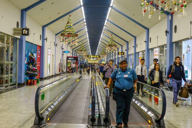 Interno di Colombo Airport, Sri Lanka fotografie stock libere da diritti