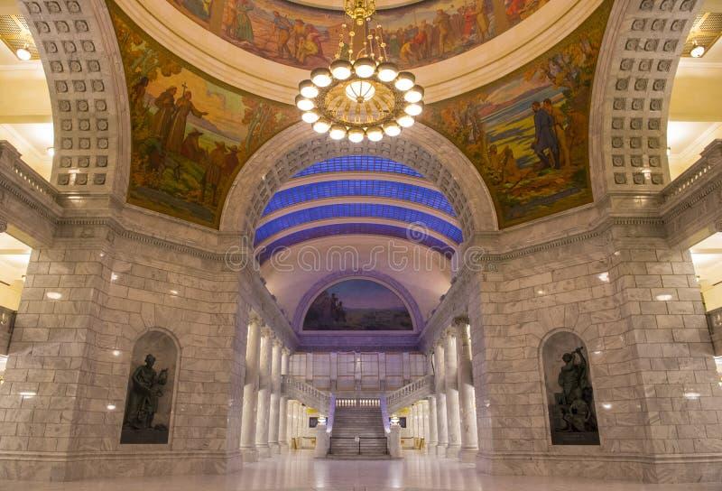 Interno di costruzione del Campidoglio dello stato dell'Utah immagine stock libera da diritti