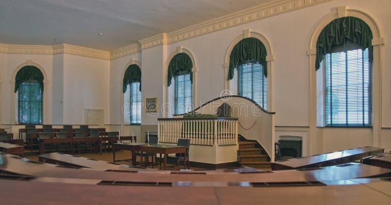 Interno di costruzione del senato di Filadelfia immagine stock