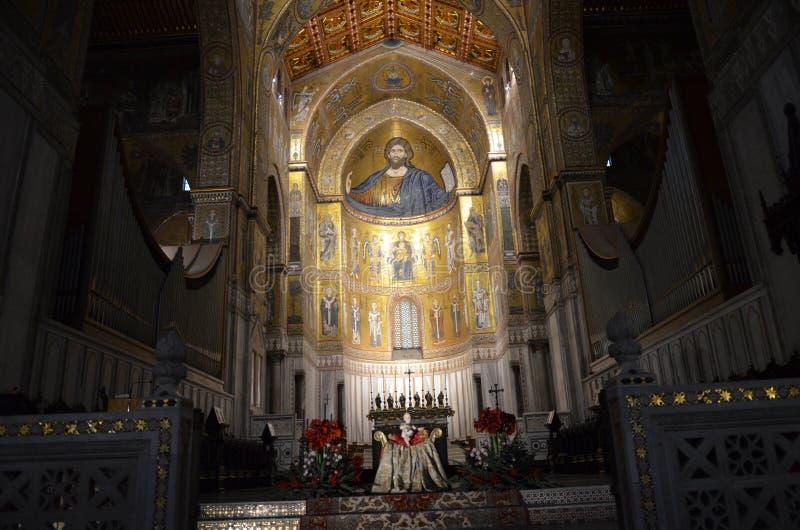 Interno di Duomo di Monreale fotografia stock