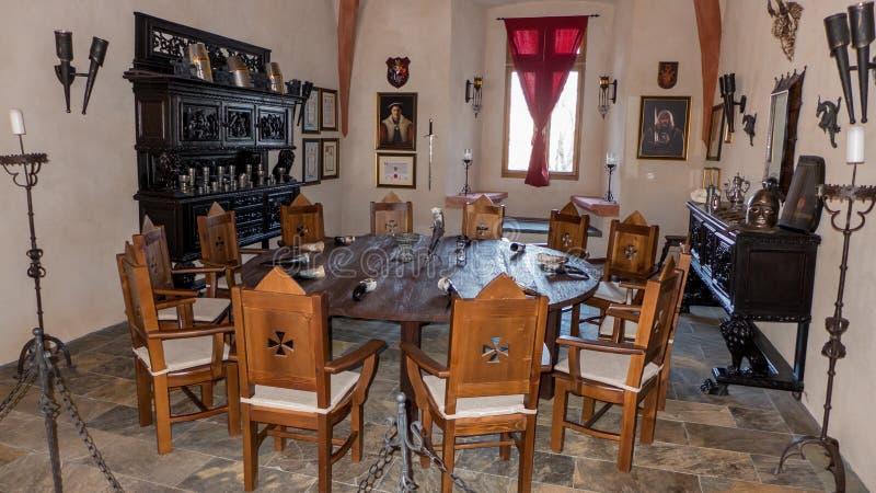 Interno di grande castello VIglas, Slovacchia immagine stock libera da diritti