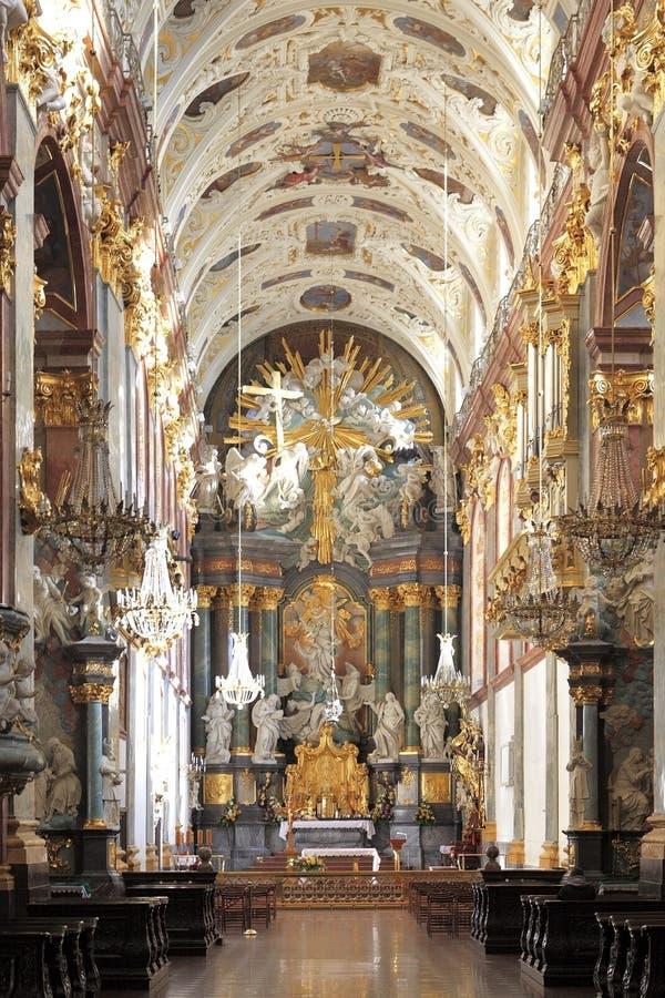 Interno di Jasna Gora Pauline Order Monastery e del santuario in Czestochowa, Polonia immagine stock libera da diritti