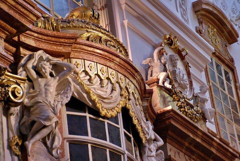 Interno di Karlskirche a Vienna, Austria fotografia stock libera da diritti
