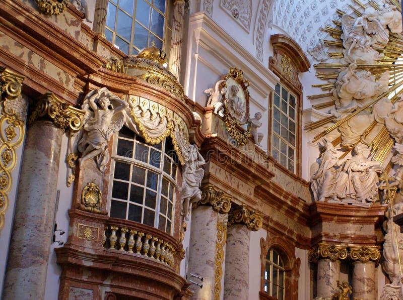 Interno di Karlskirche a Vienna, Austria fotografia stock