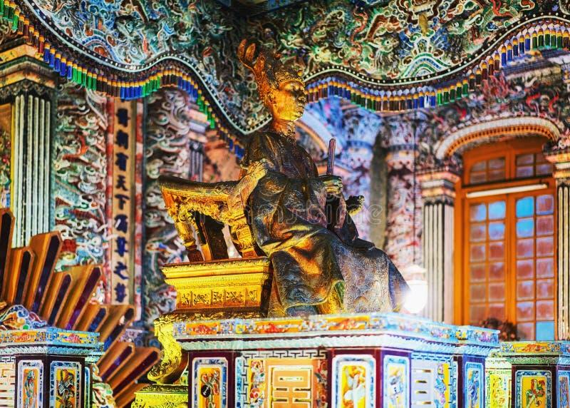 Interno di Khai Dinh Tomb di Hue Vietnam fotografia stock