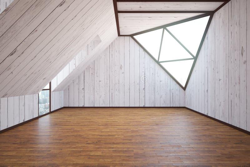 Interno di legno del sottotetto illustrazione vettoriale