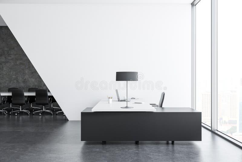 Ufficio Di Lusso : Interno di lusso dell ufficio di responsabile illustrazione di