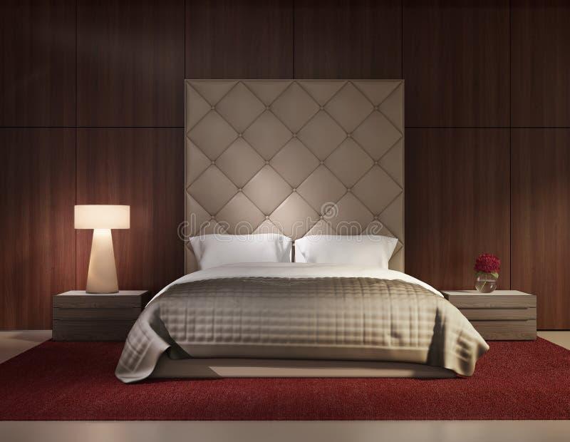 Interno di lusso della camera da letto contemporanea minima illustrazione di stock - Camera da letto contemporanea ...
