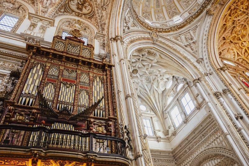 Interno di Moschea, rdoba del ³ di CÃ L'Andalusia, Spagna fotografia stock libera da diritti