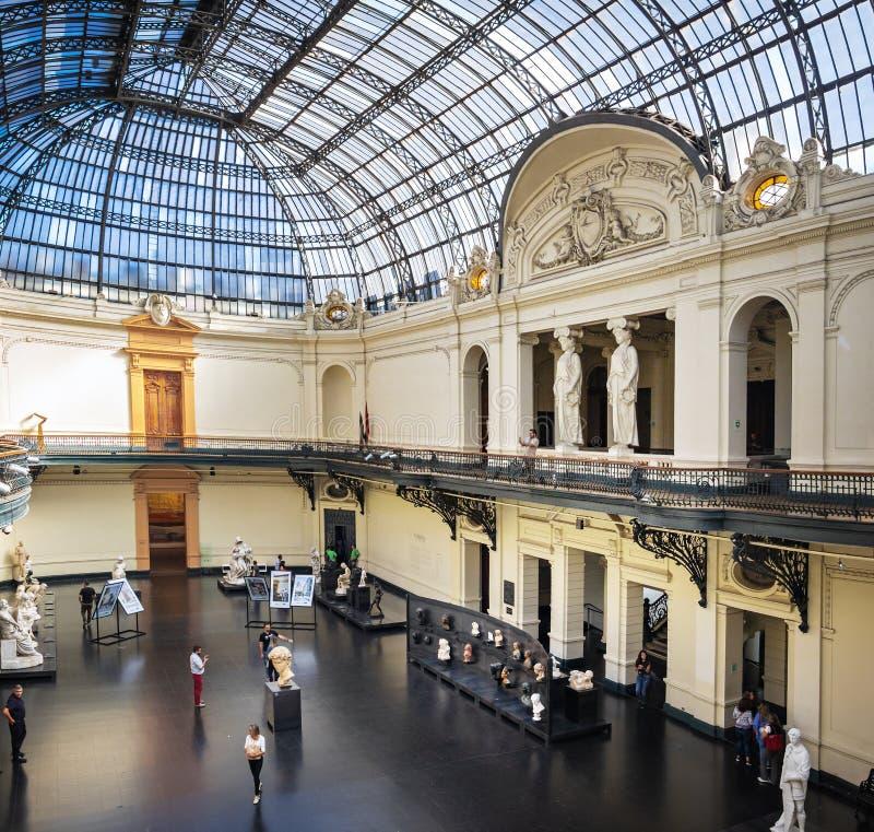Interno di Museo de Bellas Artes del museo di belle arti - Santiago, Cile fotografia stock libera da diritti