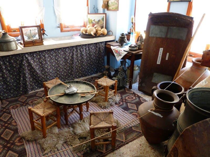 Interno di Namik Kemal Museum in Tekirdag, Turchia fotografia stock