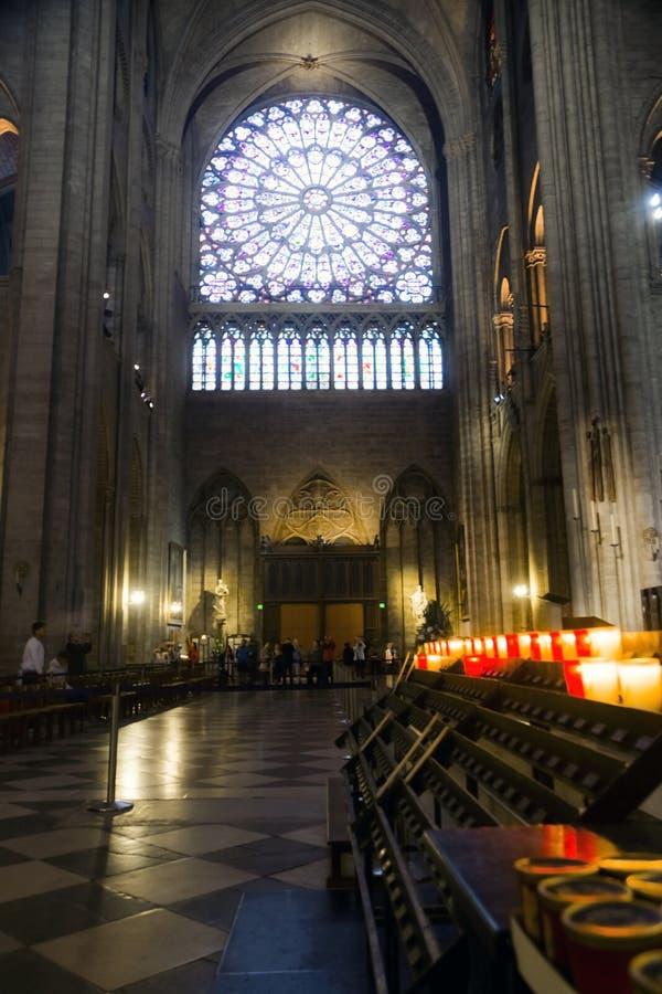 Interno di Notre Dame fotografia stock libera da diritti