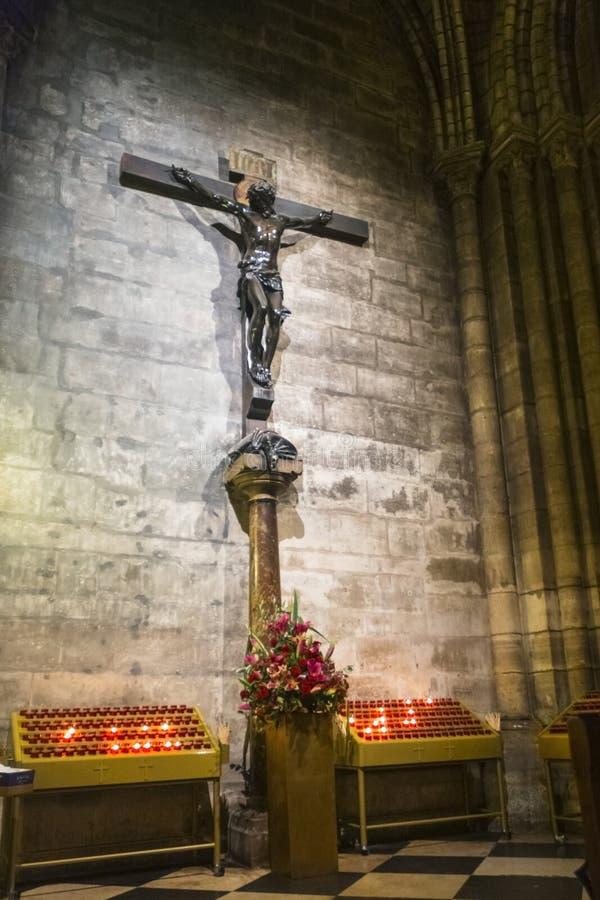 Interno di Notre Dame immagini stock libere da diritti