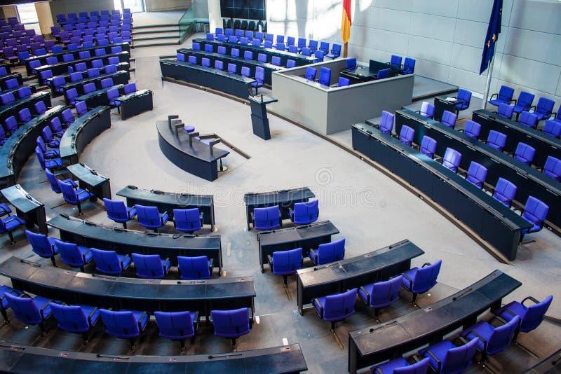 Interno di Reichstag, Berlino immagini stock libere da diritti