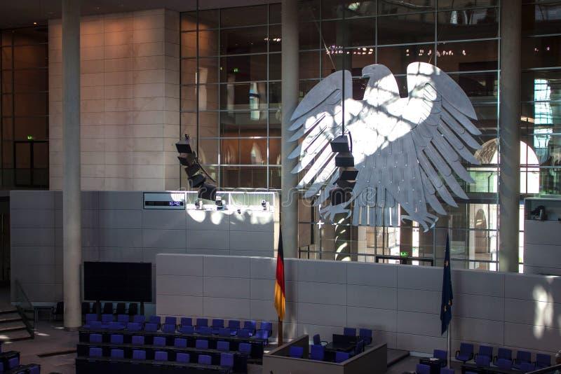 Interno di Reichstag, Berlino fotografia stock