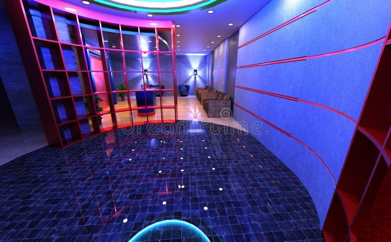 interno di ricezione dell'hotel della rappresentazione 3D illustrazione vettoriale