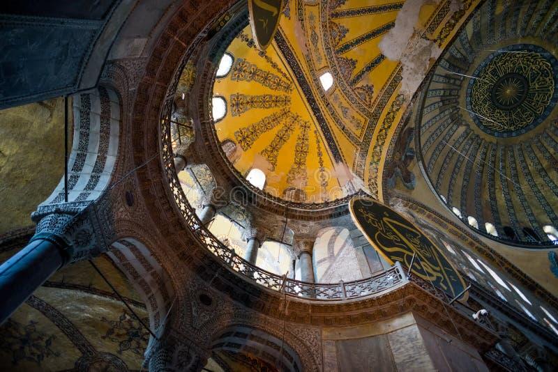 Interno di Santa Sofia a Costantinopoli fotografie stock libere da diritti
