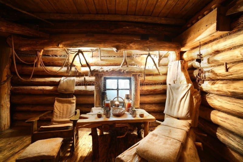 Interno Di Sauna Di Legno Russa Fotografia Stock - Immagine di ...