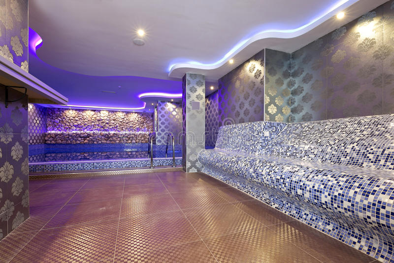 Interno di un bagno a vapore turco fotografia stock libera da diritti