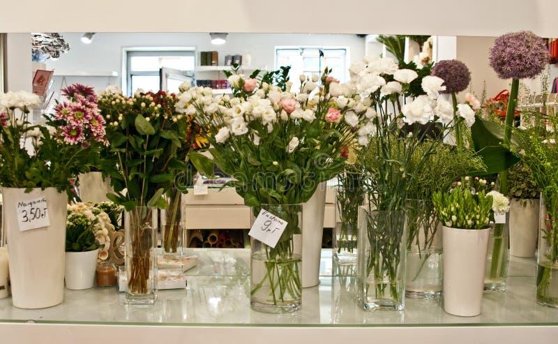 Interno di un negozio di fiore immagini stock