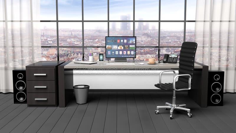 Interno di un ufficio moderno illustrazione di stock for Ufficio presidenza
