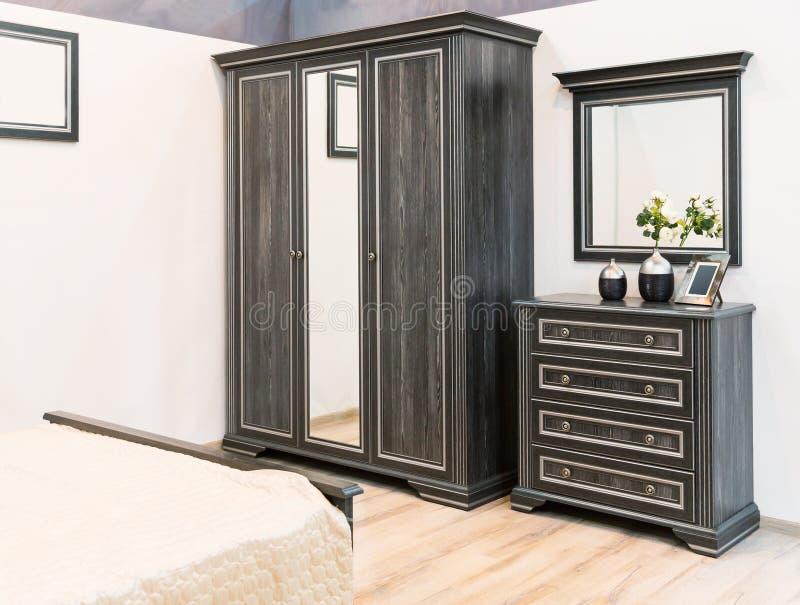 Interno di una camera da letto magnifica fotografie stock libere da diritti