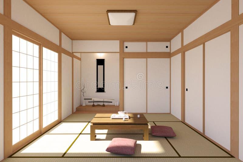 Interno giapponese del salone nella progettazione for Tatami giapponese