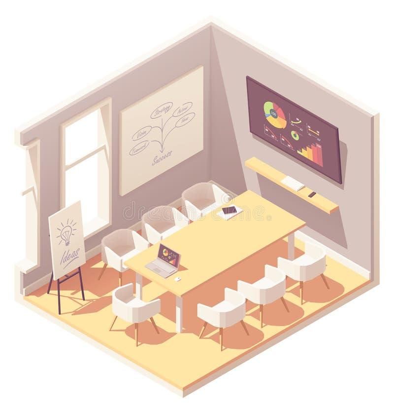 Interno isometrico dell'auditorium dell'ufficio di vettore royalty illustrazione gratis