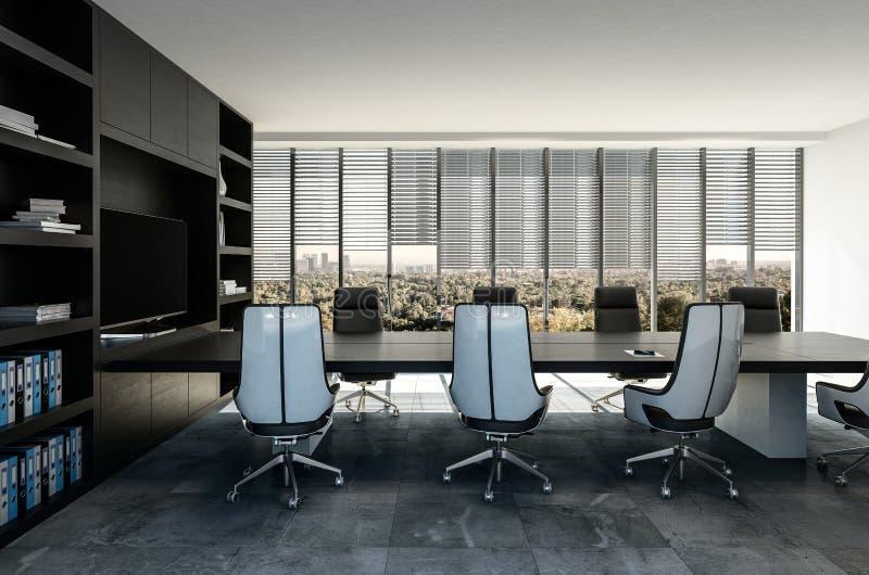 Interno moderno alla moda della sala del consiglio di affari illustrazione vettoriale